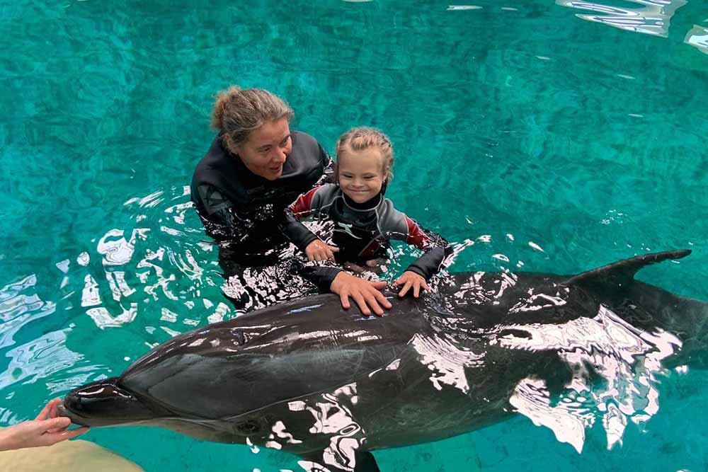 Anita Kunz - Delphintherapie